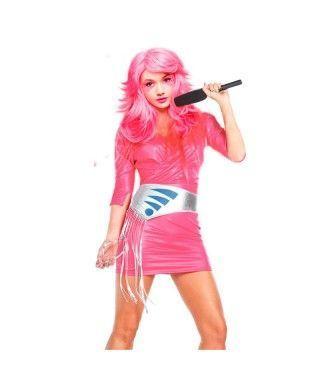 Disfraz estrella del pop 80's mujer adulto para Carnaval