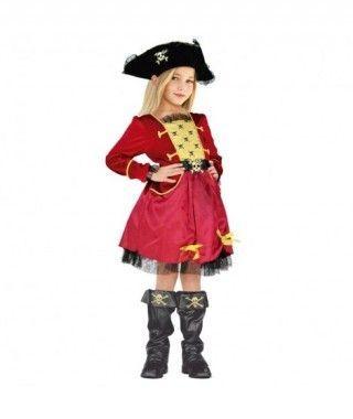 Disfraz Capitana Pirata niña infantil para Carnaval