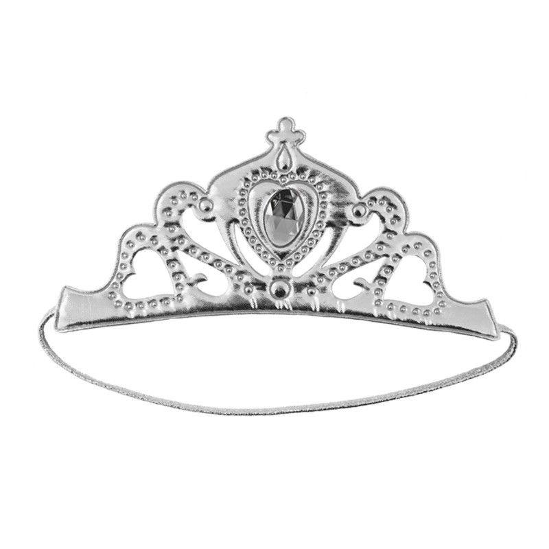 Corona Reina Plateada Accesorio Carnaval