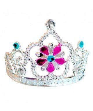 Corona Tiara de Princesa Deluxe Flor Accesorio Carnaval