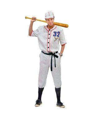 Disfraz Jugador Béisbol hombre adulto para Carnaval.