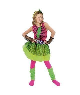 Disfraz Estrella del Pop 80's niña infantil para Carnaval