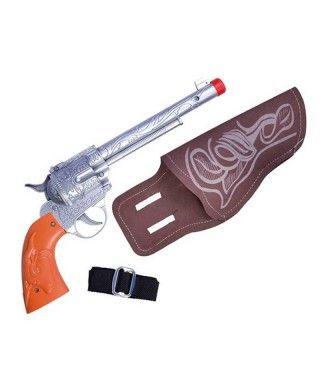Pistola Revólver Cowboy con Holster Accesorios Carnaval