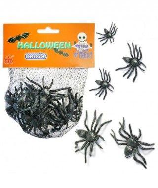 Arañas Decoración Halloween (12 uds)