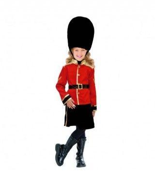 Disfraz Guardia Inglesa niña infantil para Carnaval