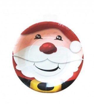 Platos de Papel desechable Papá Noel 23 cm (10 unidades)