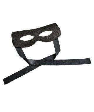 Antifaz negro El Zorro Accesorio Carnaval