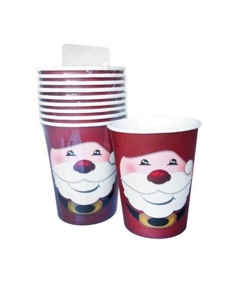 Vaso de Papel 200 ml Papá Noel (10 unidades)