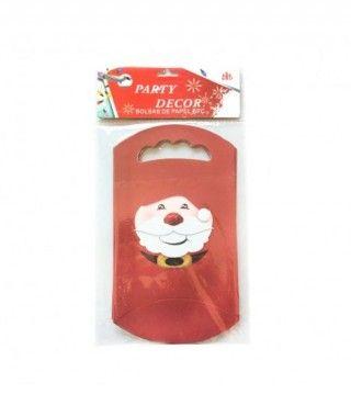 Bolsas de Papel Papá Noel (6 uds) para caramelos o regalos
