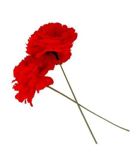 Clavel rojo tela con vara Accesorio...
