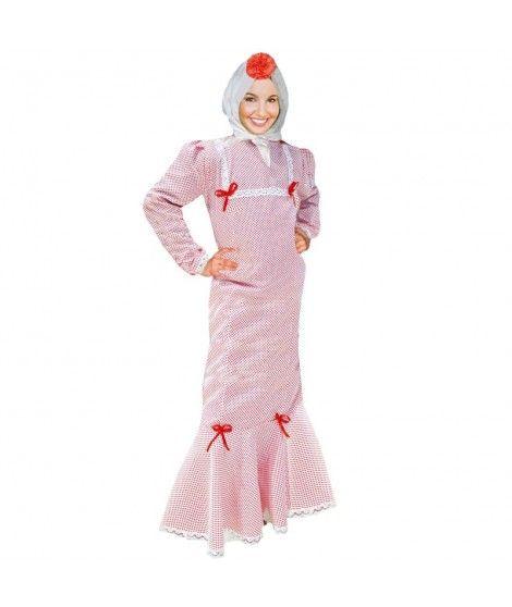 Disfraz Chulapa mujer adulto San Isidro blanco lunar rojo
