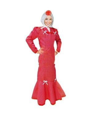 Disfraz Chulapa mujer adulto San Isidro rojo lunar blanco