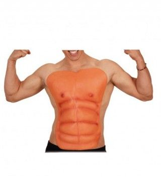 Torso musculoso postizo de hombre Accesorio Broma