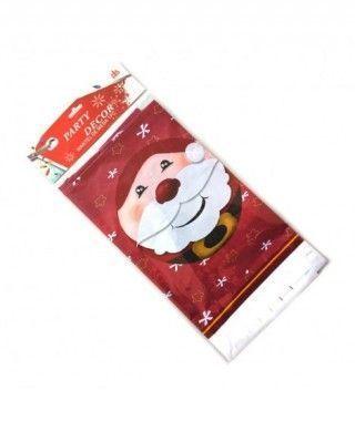 Mantel de plástico Papá Noel 180*108cm Decoración Mesa