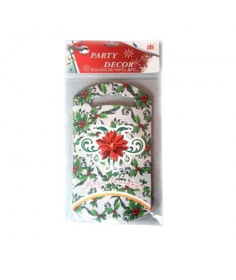 Bolsas de Papel Feliz Navidad (6 uds) para caramelos o regalos