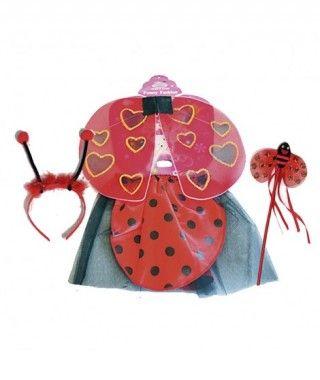 Conjunto de Disfraz Mariquita Ladybug (2 piezas) Alas + Tutú