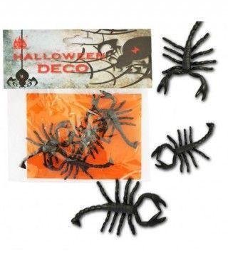 Escorpiones Decoración Halloween (6 uds)