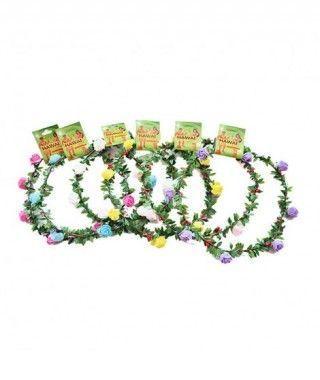 Corona Flores Rositas Accesorio Fiestas