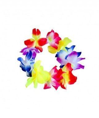 Corona Hawaiana Flores Medianas Multicolor