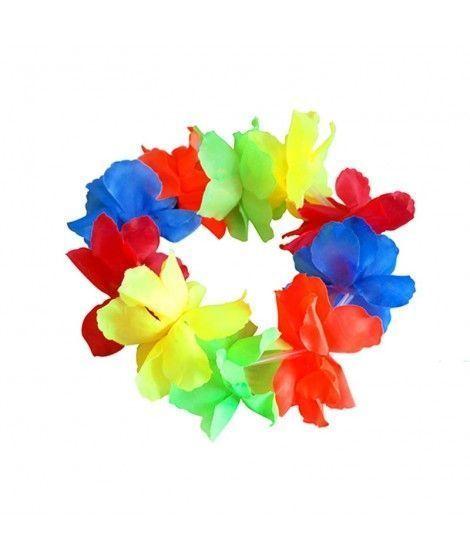 Corona Hawaiana Flores Grandes Multicolor