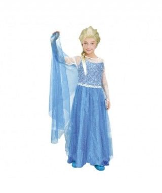 Disfraz Princesa de Hielo Azul niña infantil para Carnaval