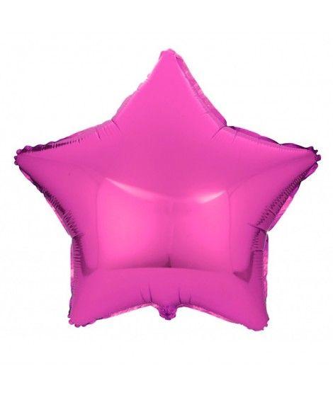 Globo Estrella Fucsia 46 cm Foil