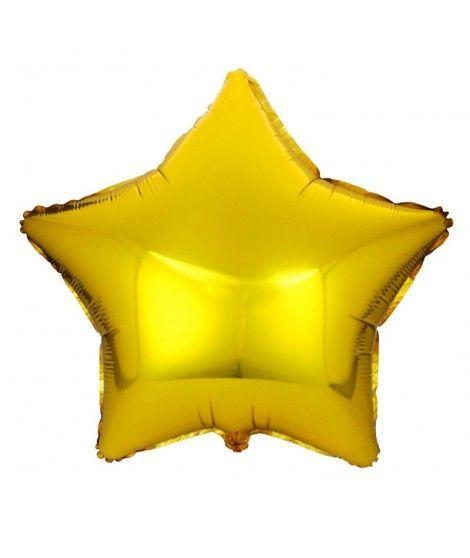 Globo Estrella Oro 46 cm Foil