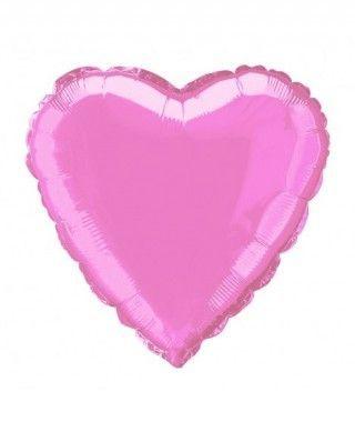Globo Corazón Rosa 46 cm Foil