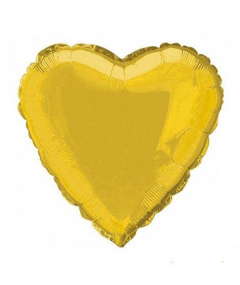 Globo Corazón Oro 46 cm Foil
