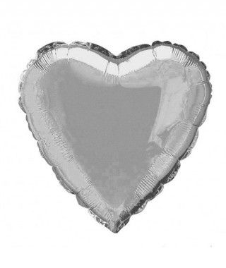 Globo Corazón Plata 46 cm Foil