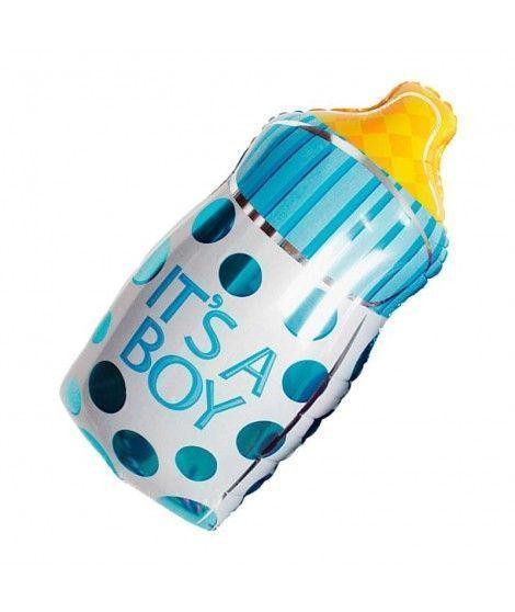 Globo Biberón Azul Foil Babyshower