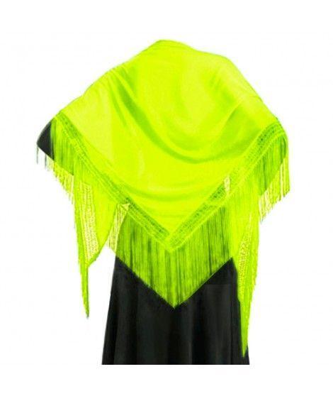 Mantón Verde de adulto (150 cm x 60 cm) Accesorio Baile