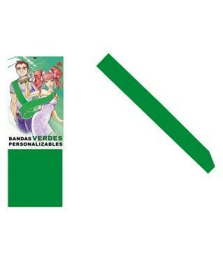 Banda Verde Personalizable para Fiestas (Despedidas, Cumpleaños, Celebraciones)