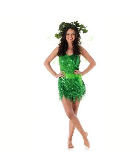 Disfraz Hada verde mujer adulto para Carnaval