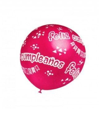 Globos Feliz Cumpleaños surtidos (5 uds) Tamaño Grande
