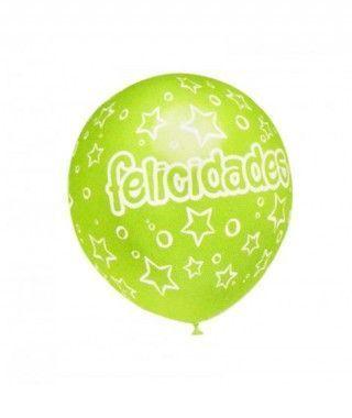 Globos Felicidades Surtidos (5 uds) Tamaño Grande