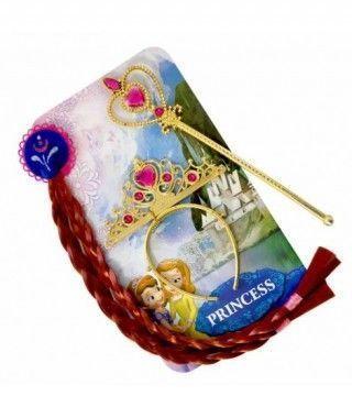 Conjunto Accesorios Princesa Corona Varita Trenzas