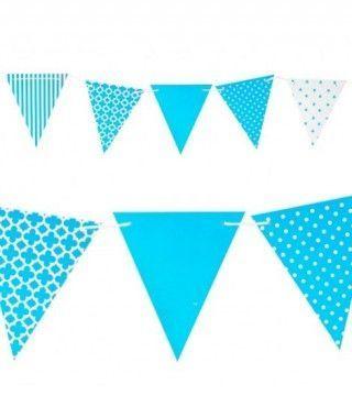 Banderín azul 3.6m Decoración Fiestas
