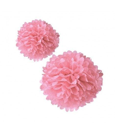 Pompones Papel Decorativos rosas (2...