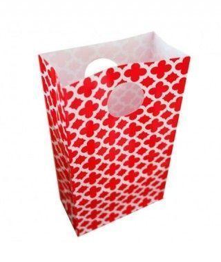 Bolsitas Caramelos Rojas Geométricas (6 uds) Decoración Fiestas