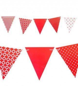 Banderín rojo 3.6m Decoración Fiestas