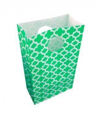 Bolsitas Caramelos Verdes Geométricas (6 uds) Decoración Fiestas