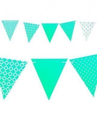 Banderín verde 3.6m Decoración Fiestas