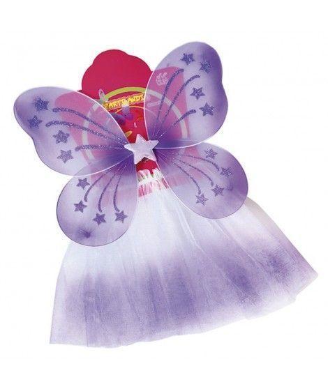 Conjunto Alas mariposa y Tutú con degradado Niña Infantil