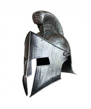 Casco Espartano Plateado...