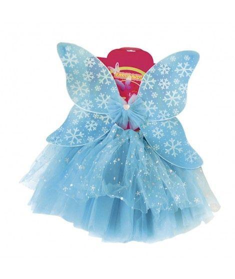Conjunto Alas mariposa y Tutú Nieve Niña Infantil