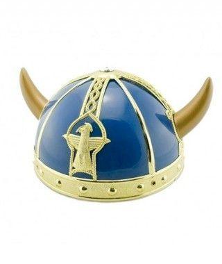 Casco Vikingo Azul Accesorio Carnaval