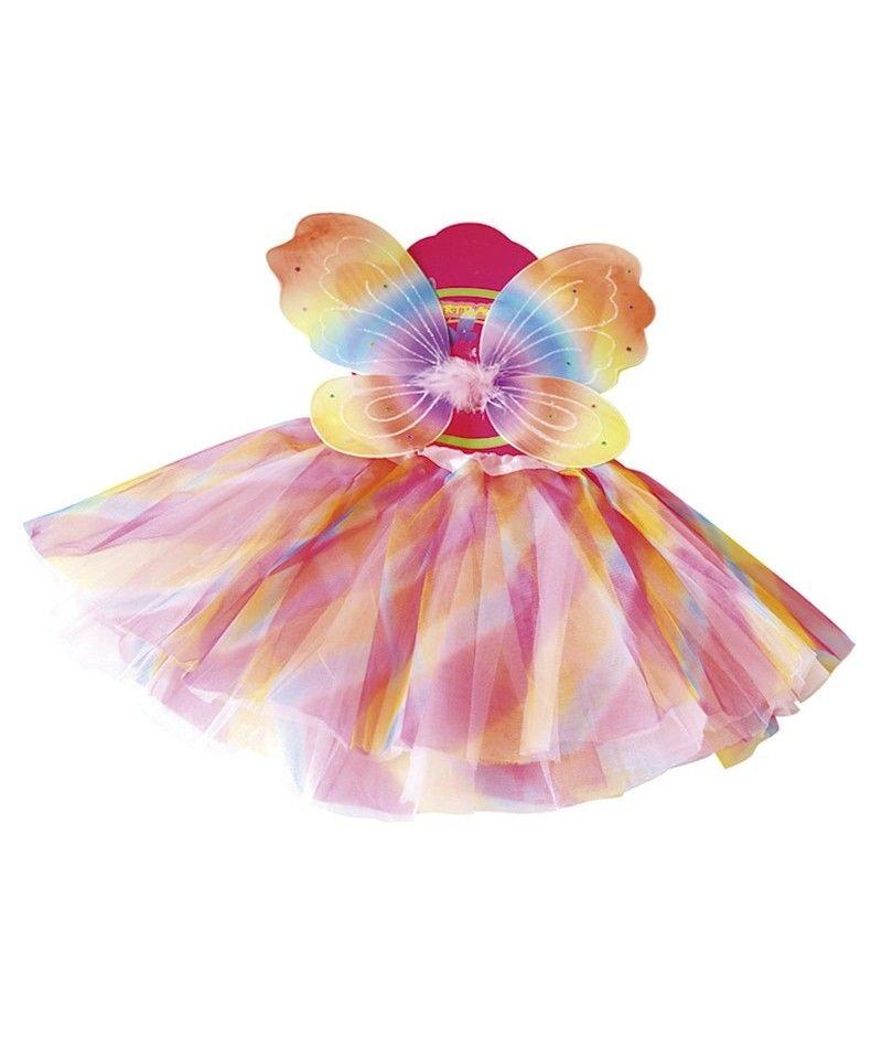 conjunto alas mariposa y tut multicolor nia infantil