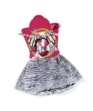Conjunto de cebra (4 piezas) Tutú + Diadema+ Cola + Pajarita Niña Infantil