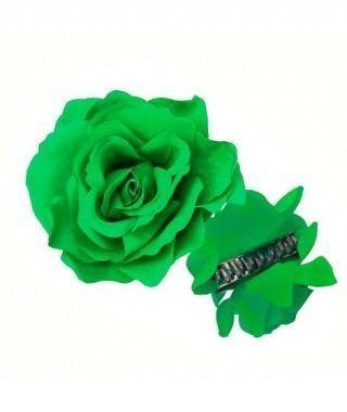 Rosa Flamenca Pinza Verde